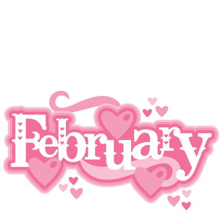 February clipart cutesy. Title svg scrapbook cut