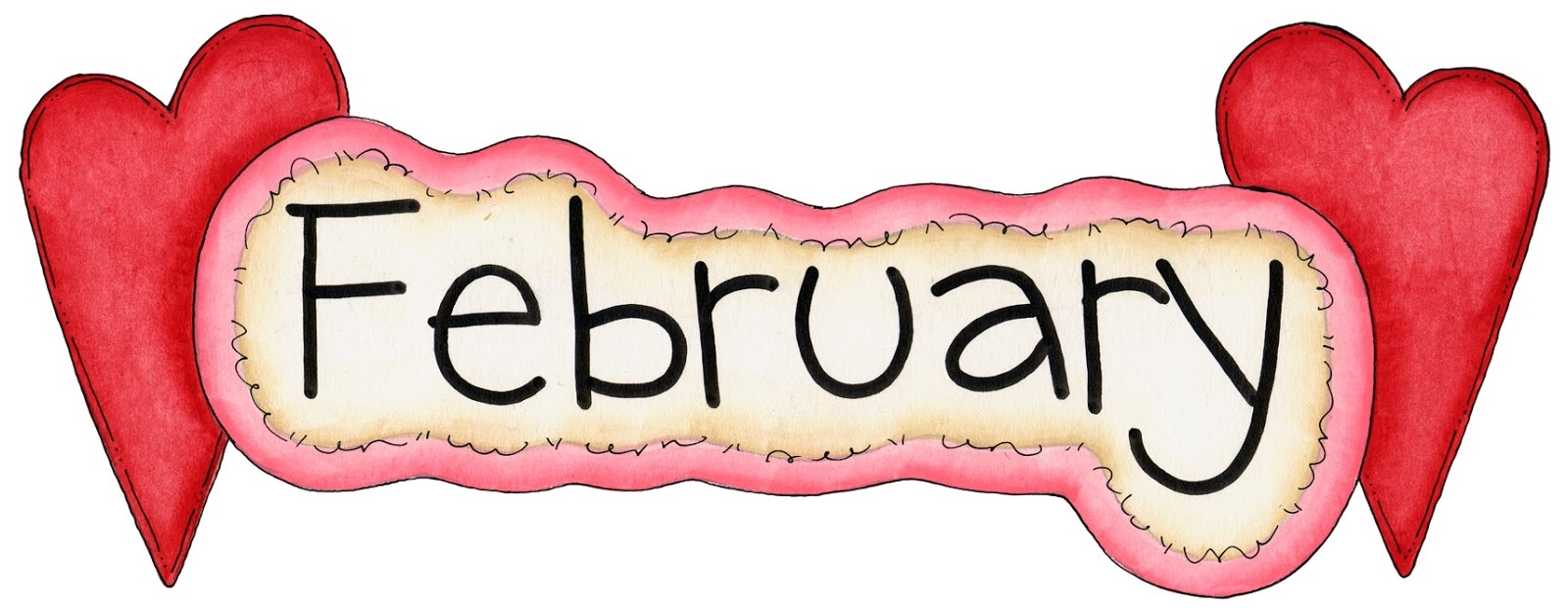 February clipart cutesy. Best of collection digital