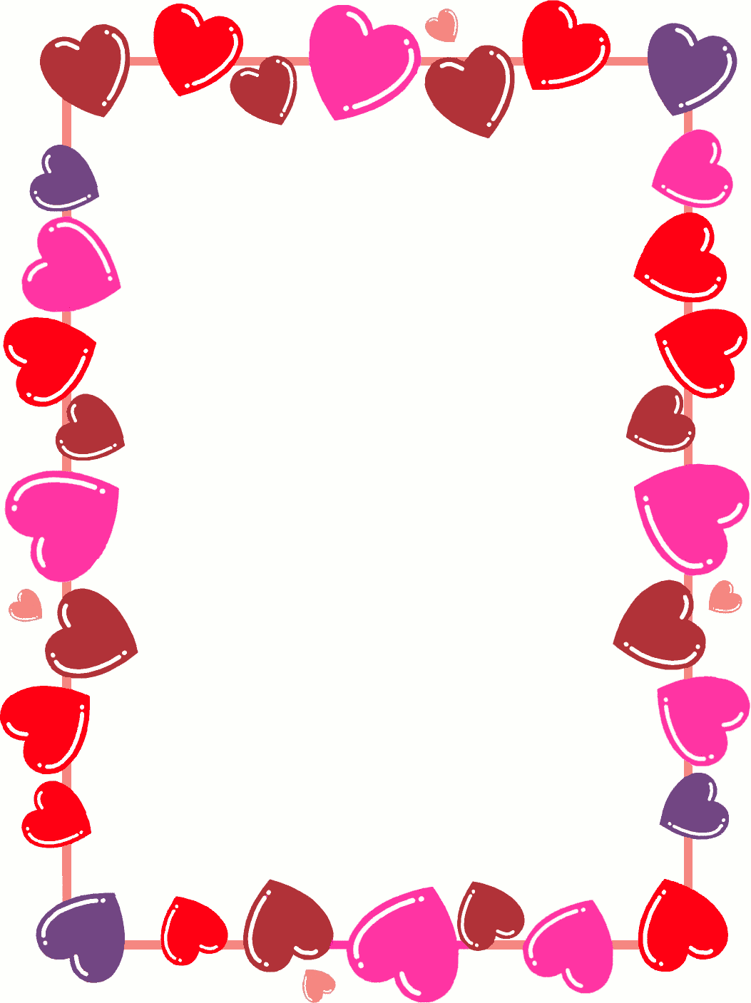 February clipart group heart. Page border free borders