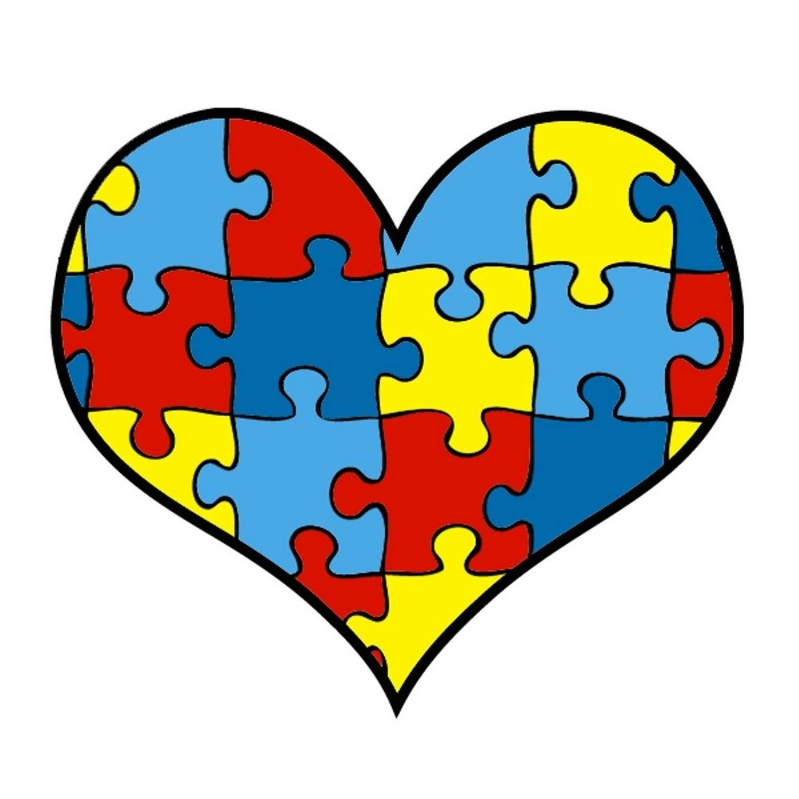 February clipart group heart. Gallup autism support the