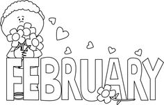 February clipart heat. April bujo corner pinterest