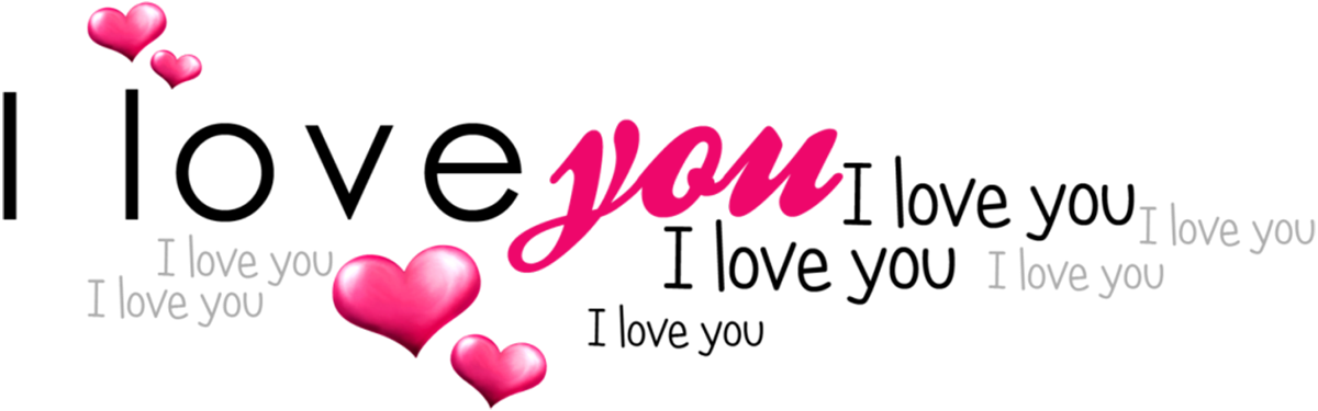February clipart iloveyou. I love you text