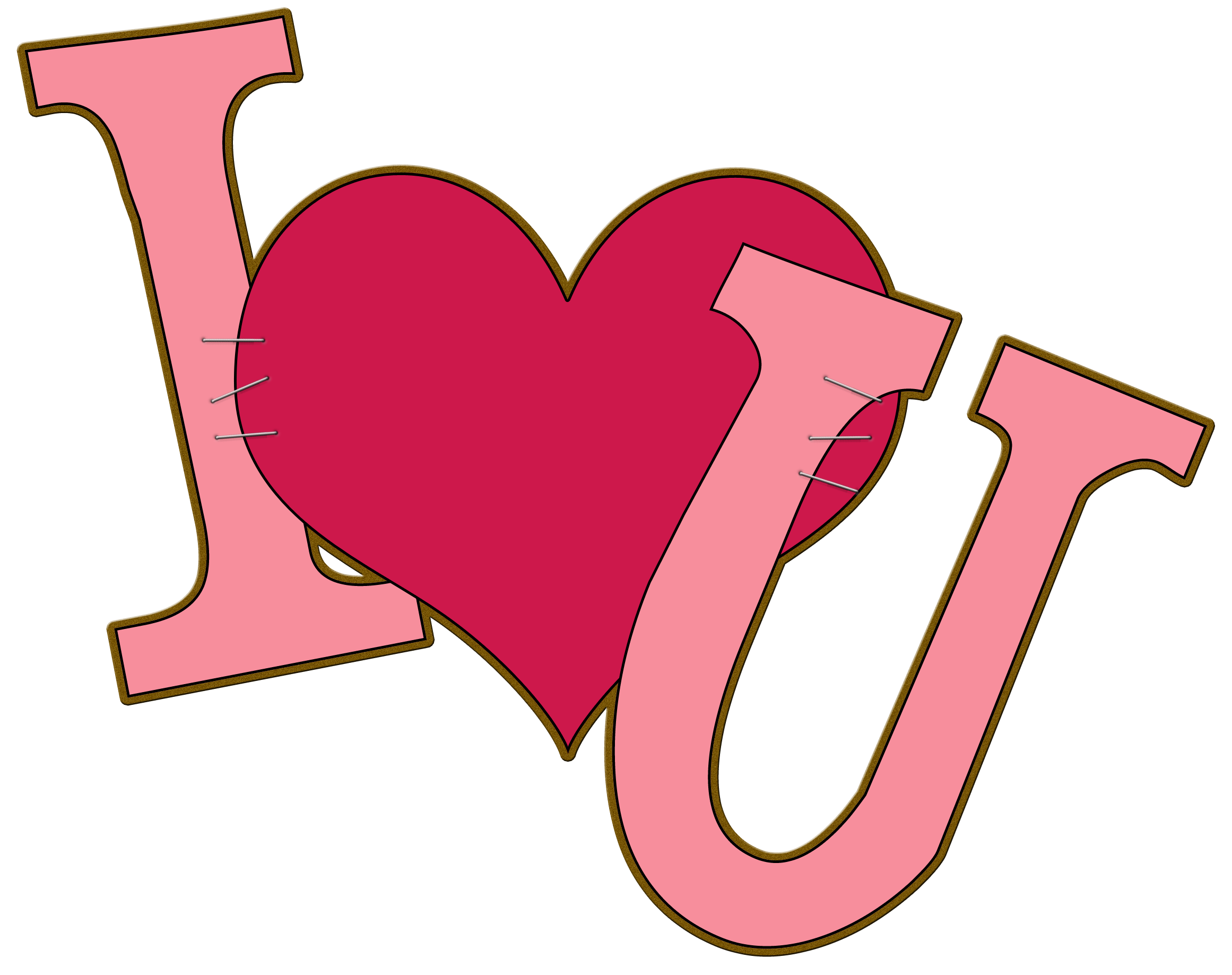 Love clipart png. Free i you art