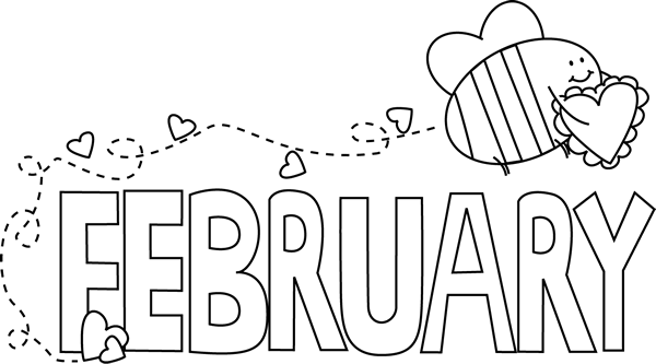 February clipart month. Clip art images of