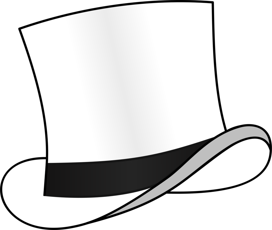 Fedora clipart. Top hat six thinking