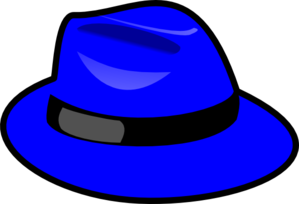 Blue clip art at. Fedora clipart clip library