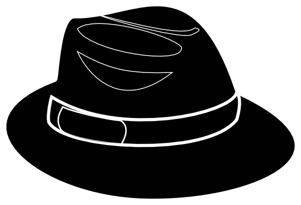 fedora clipart drawn