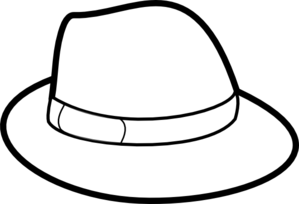 Fedora clipart. Outline clip art at