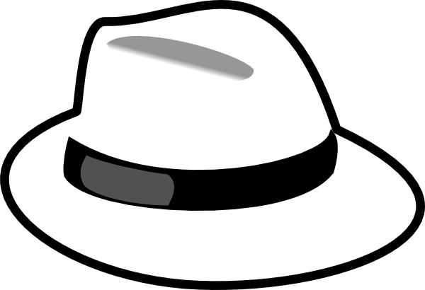 Fedora clipart. White gallery by lisa