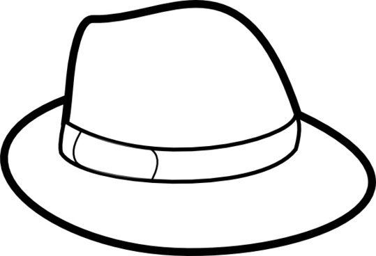 Fedora clipart. Free vector download for