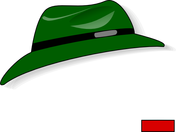 Fedora clipart animated. Green clip art at