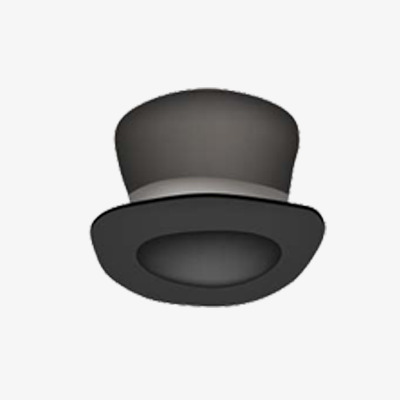 Fedora clipart animated. Painted gray hat hand