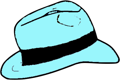 Fedora clipart blue. File light hat png