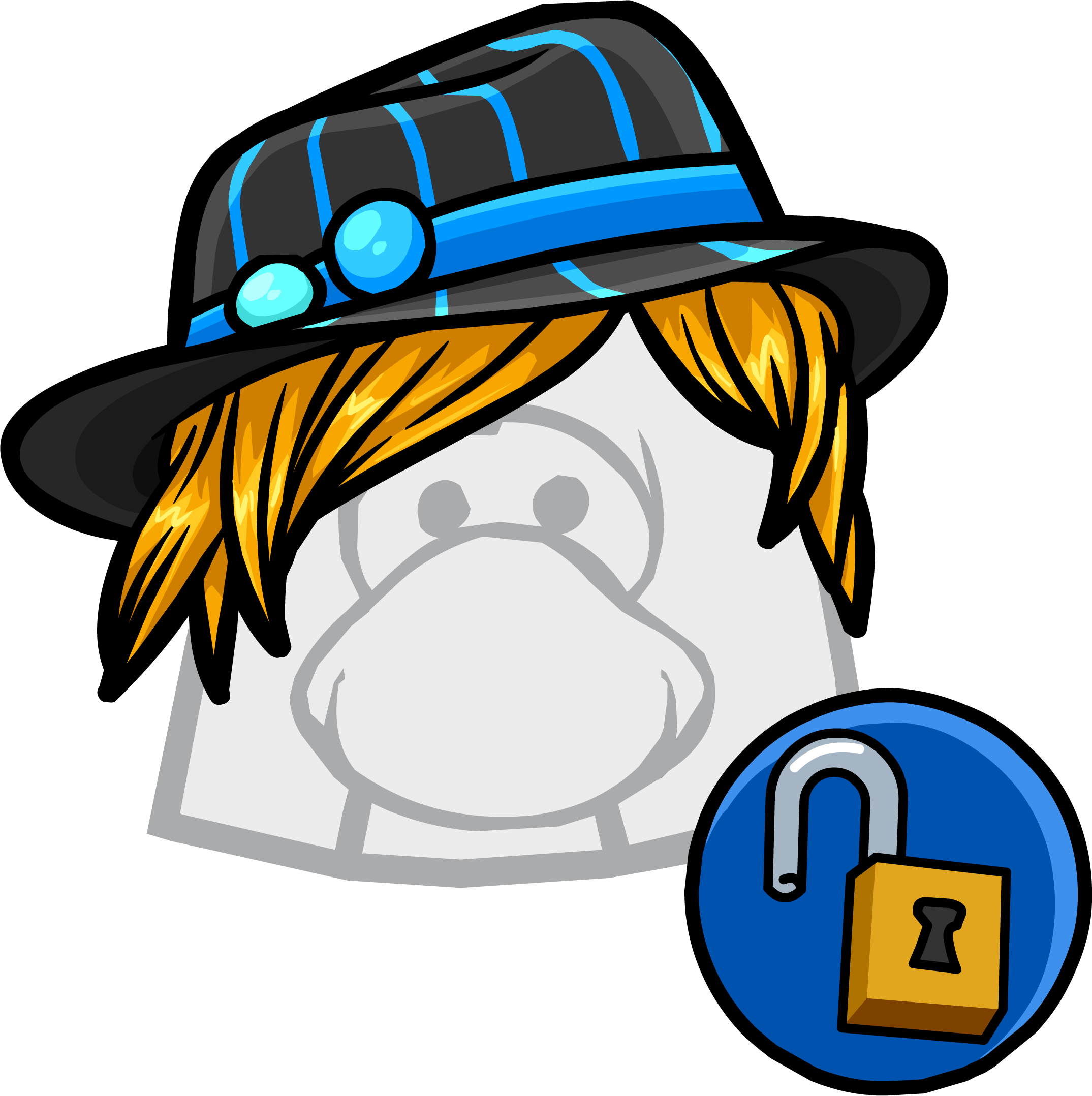 Fedora clipart blue. Striped club penguin wiki