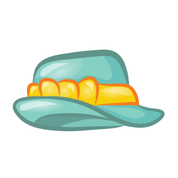 Fedora clipart blue. Do drops season squinkies