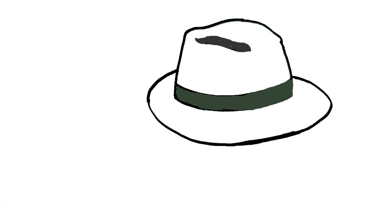 Fedora clipart drawn. How to draw a