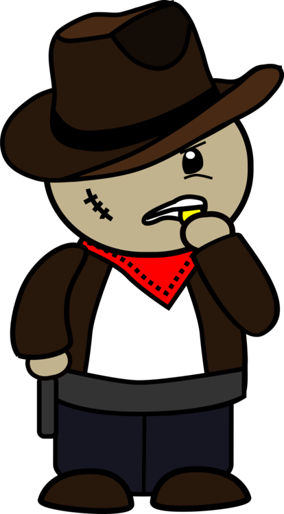 Fedora clipart drawn. Cowboy cartoon western drawing