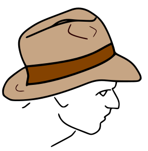 Fedora clipart drawn. Facts for kids kidzsearch