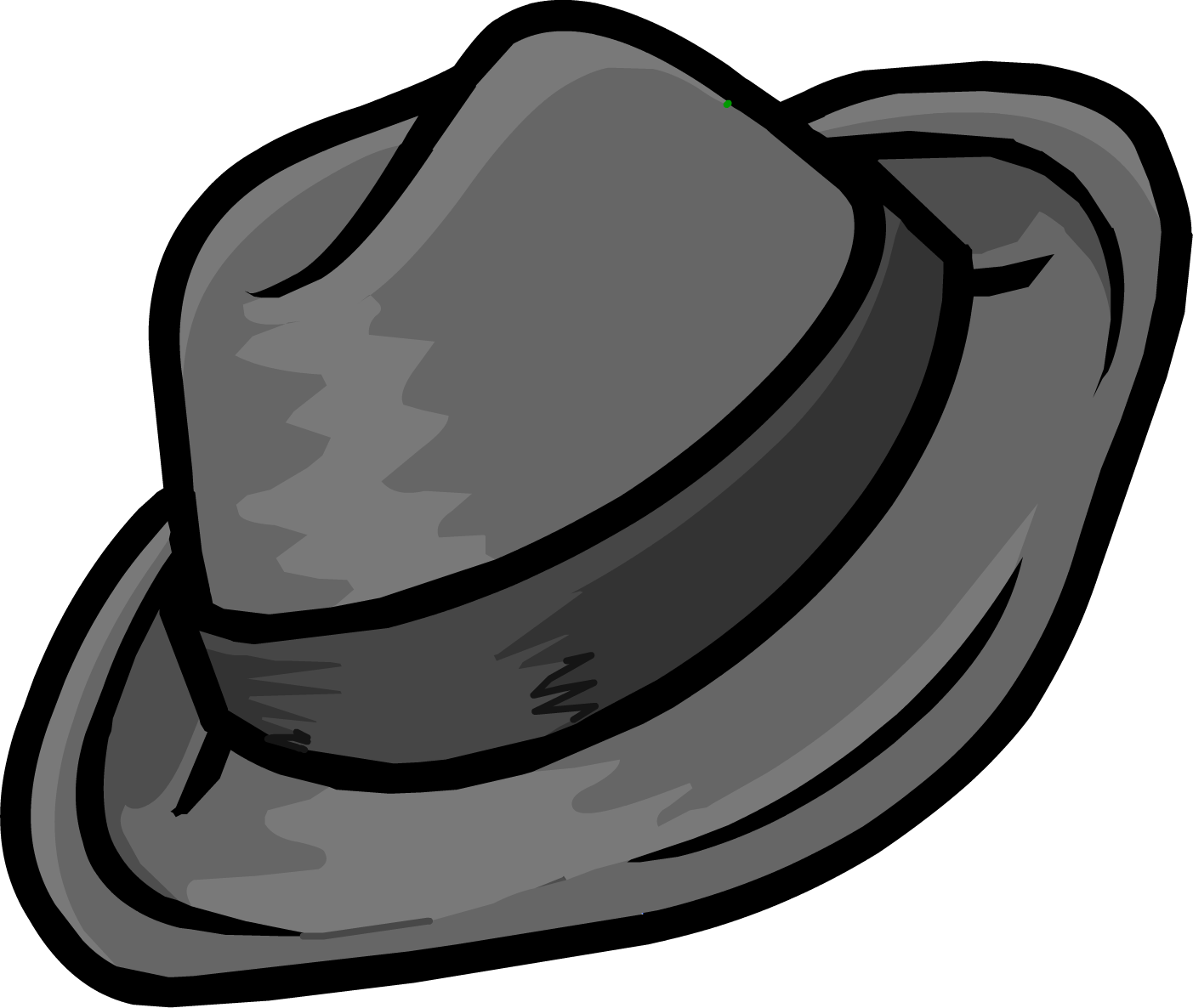 Fedora clipart png. Image gray club penguin
