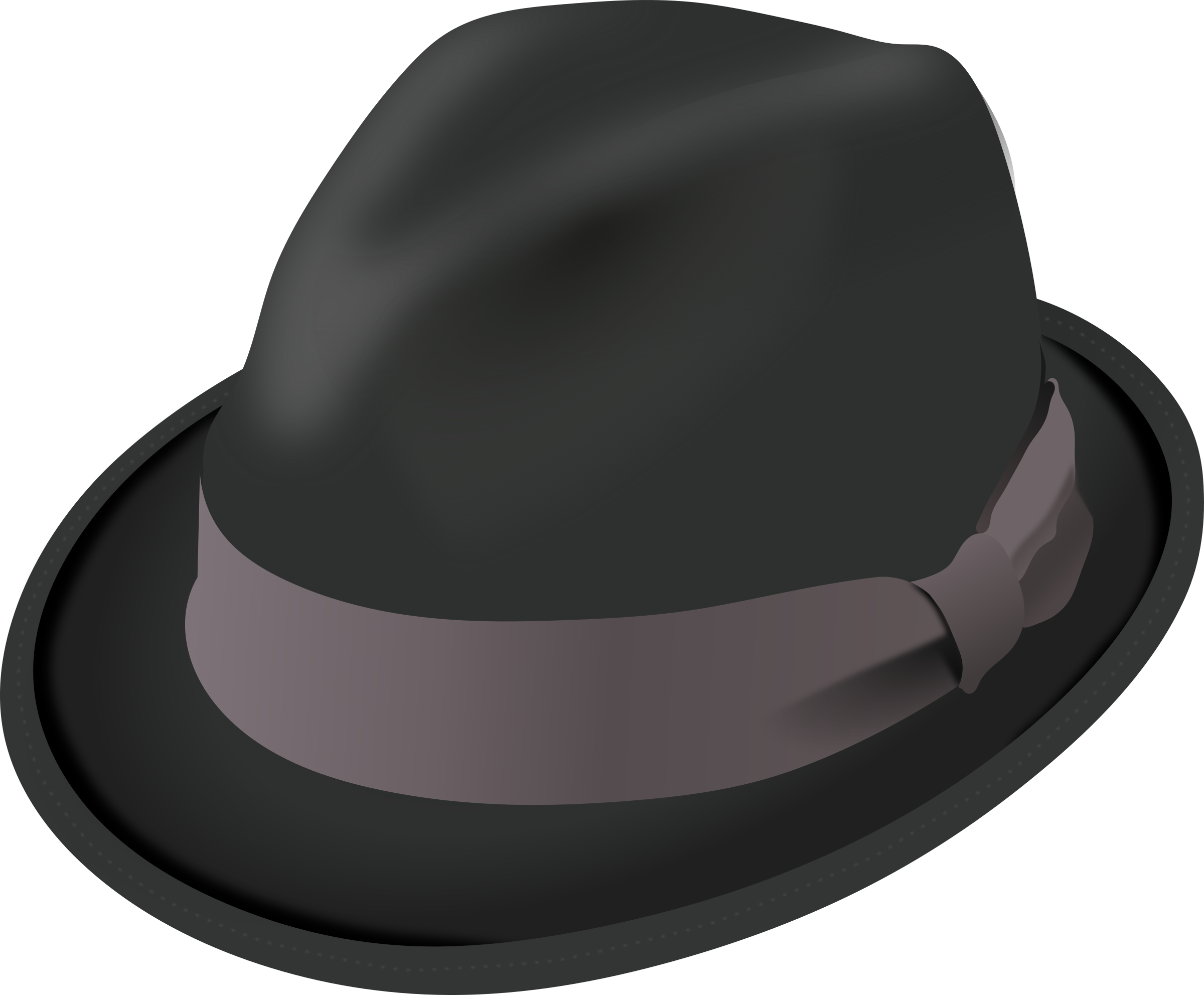 Fedora clipart png. Trilby hat big image