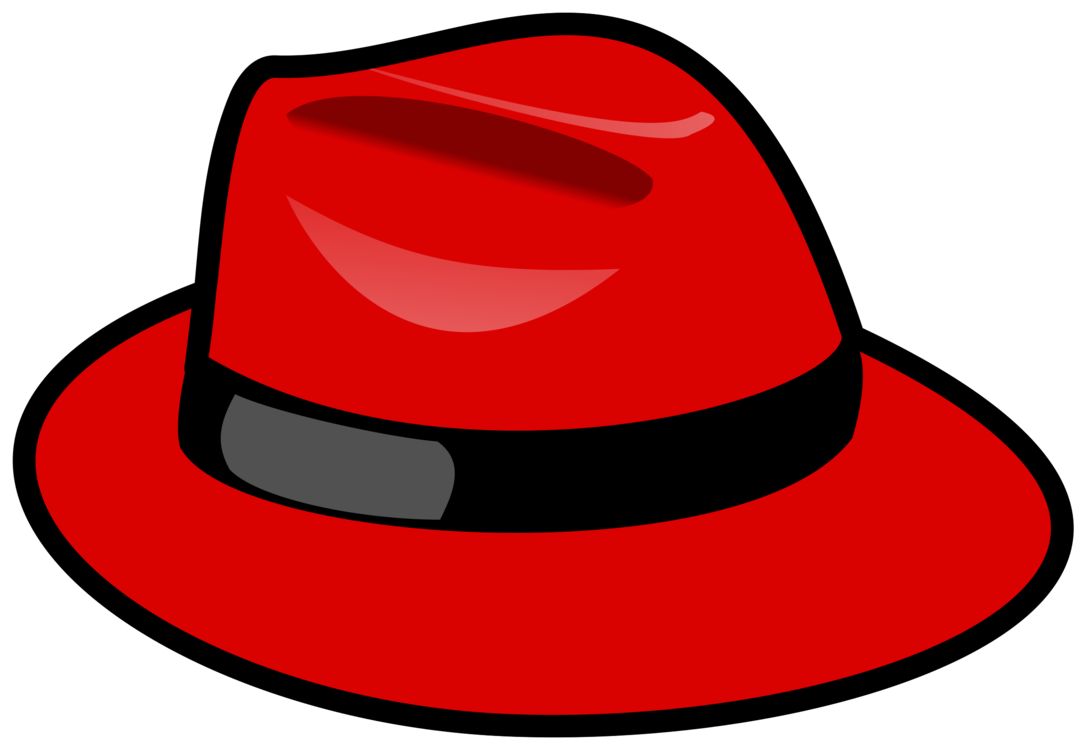 Fedora clipart red cowboy hat. Software enterprise linux nyse