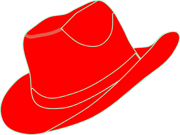 fedora clipart red cowboy hat