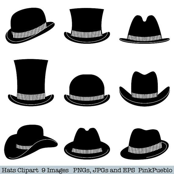 Pin by slynn tew. Fedora clipart snow man vector black and white stock