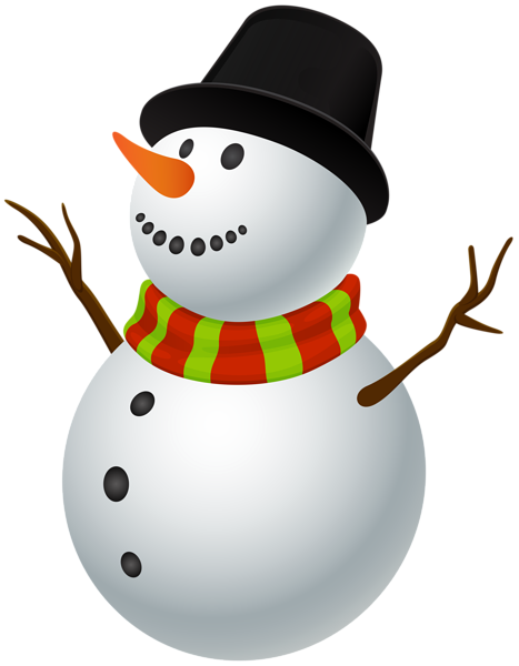 Snowman clip art image. Fedora clipart snow man clipart royalty free