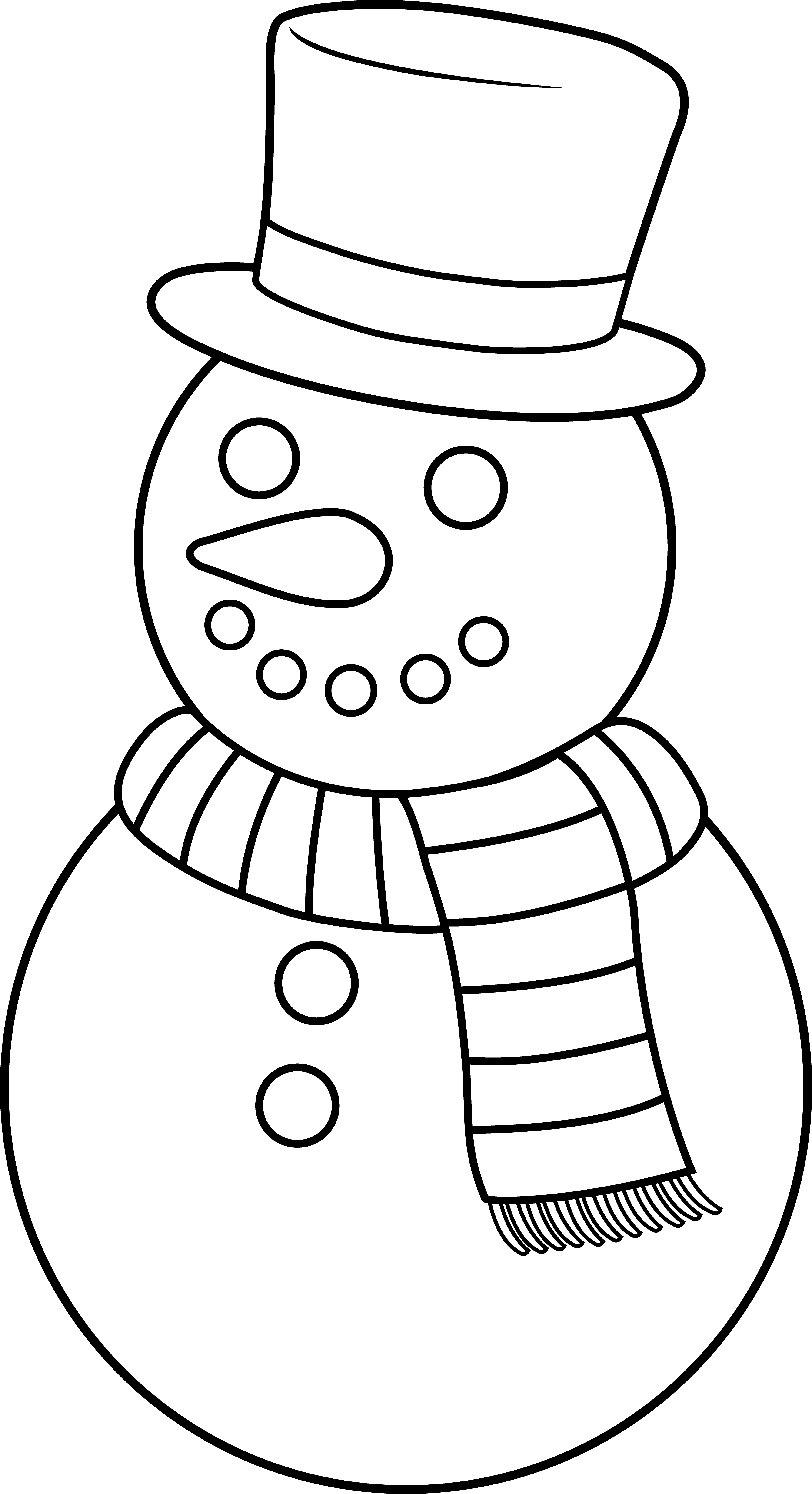 Colorable christmas snowman free. Fedora clipart snow man vector royalty free stock