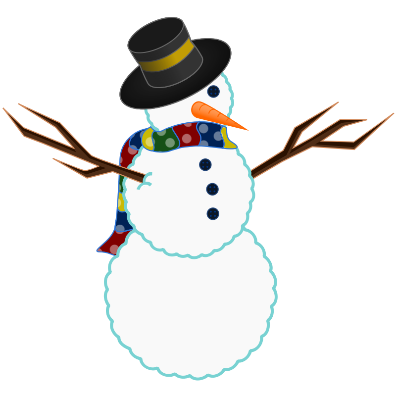 Free snowman download clip. Fedora clipart snow man picture download