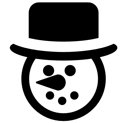 Snowman page free icons. Fedora clipart snow man png library