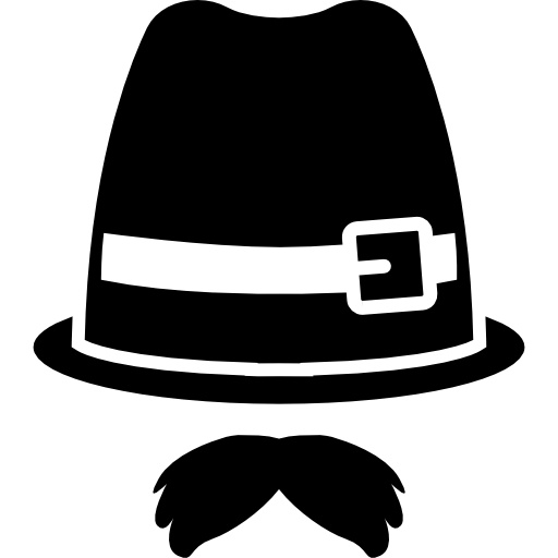 Fedora clipart wedding hat. Moustache and with buckle