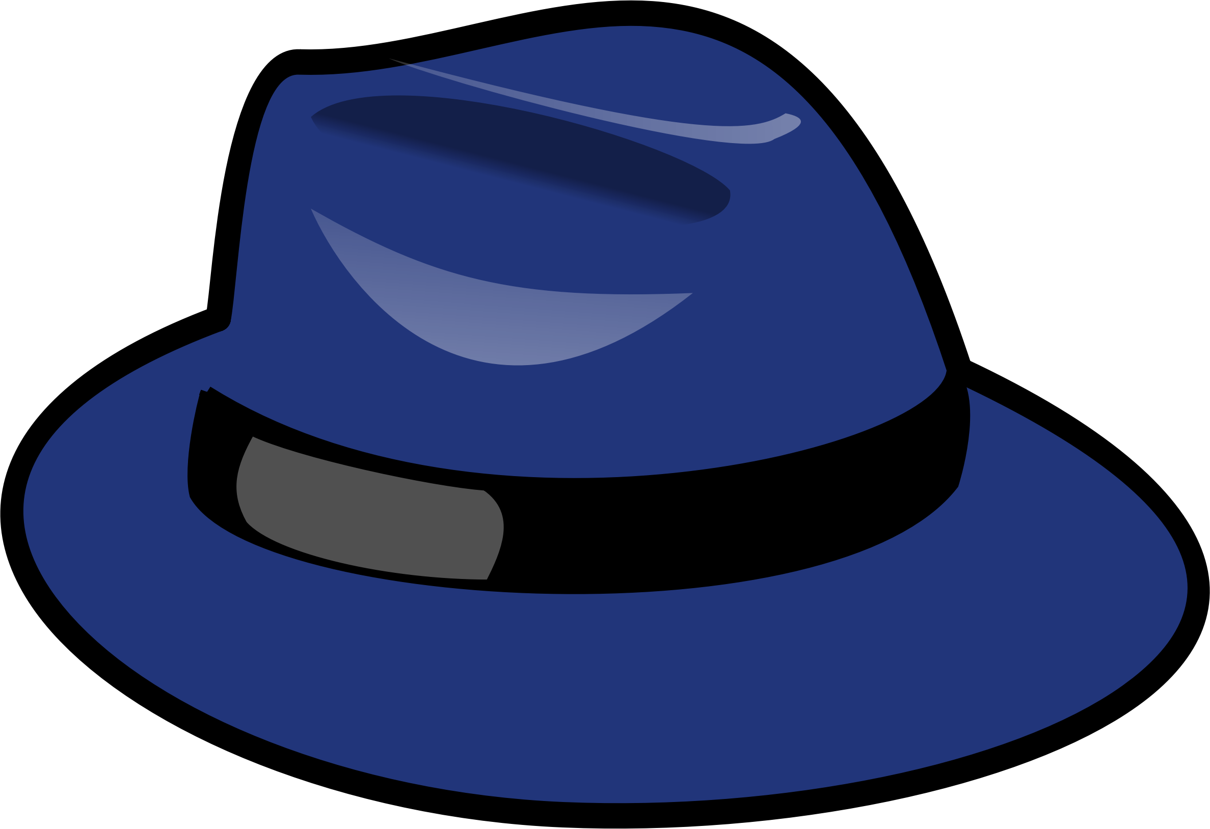Fedora .png. Blue icons png free