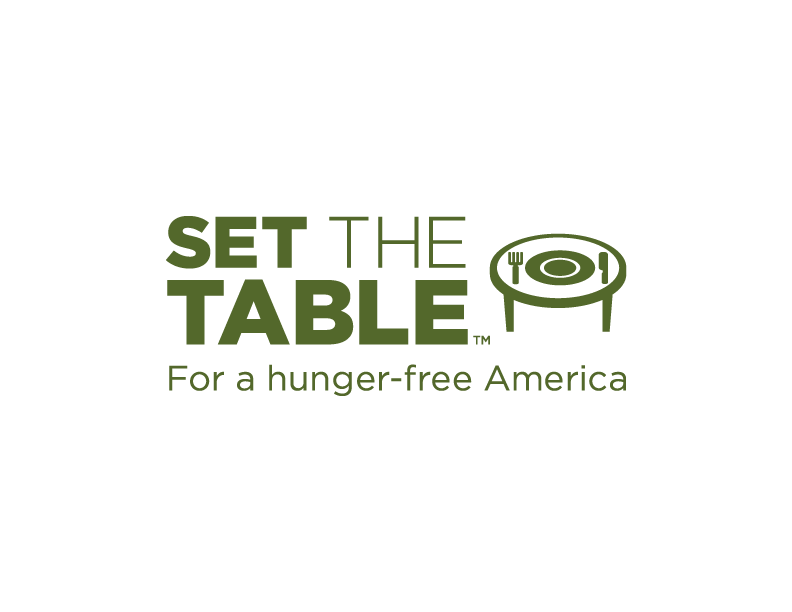 Feeding america png. Set the table