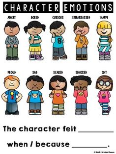 Feelings clipart character feeling. Emotions resources graphic organizers