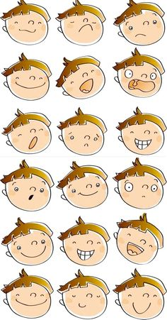 Feelings clipart emotion faces. Kids clip art png
