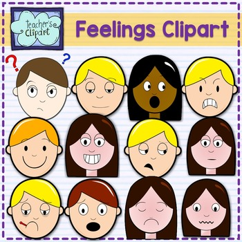 Feelings clipart. Multicultural faces by teacher