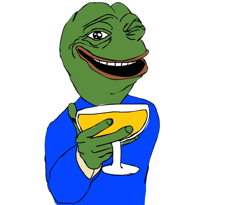 Feels good man png. Happy pepe feelsgoodman transparent