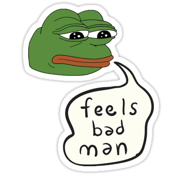 Feelsbadman emoji png. Pepe the frog feels