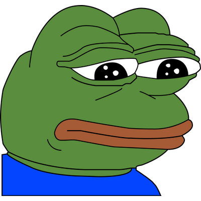 Feelsbadman png. Sad pepe transparent stickpng