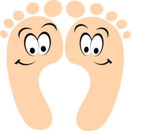 Feet clipart one foot. Happy clip art at