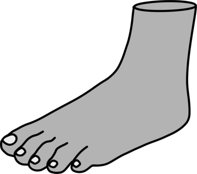 Feet clipart beach. Thumb foot sole shoe