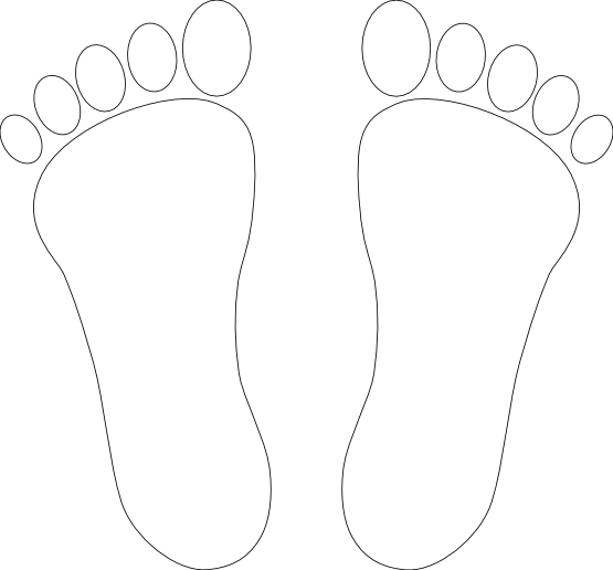 Feet clipart black and white png. Collection of high