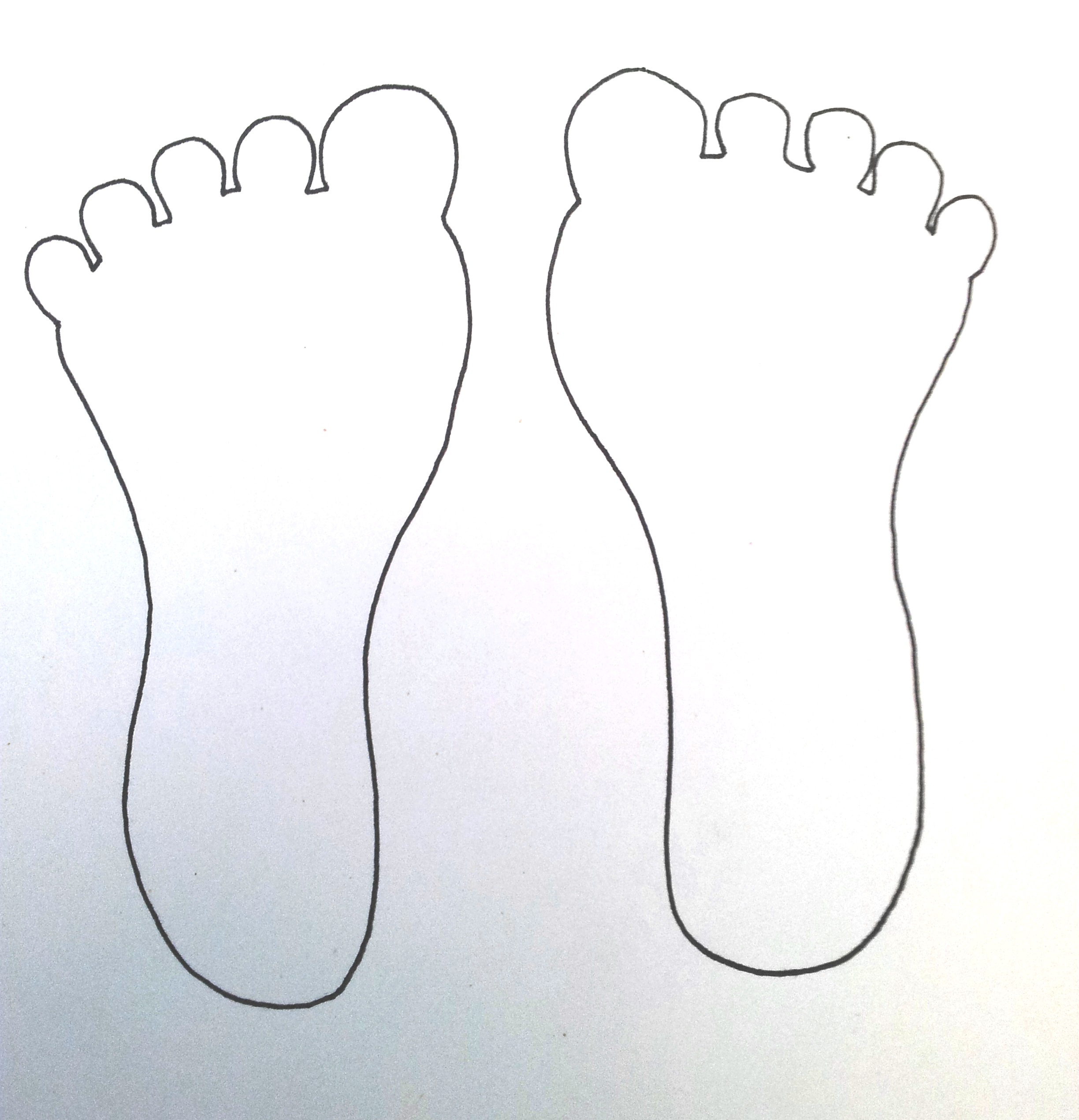 Feet clipart giant foot. Template october thoughts works