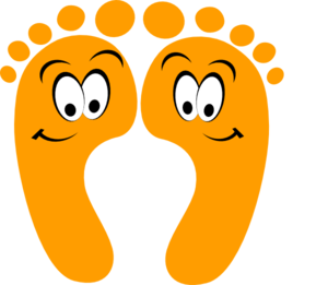 Feet clipart png. Orange happy clip art