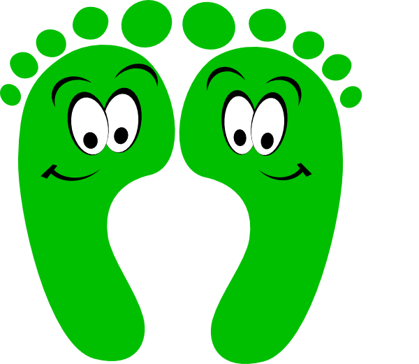 Feet clipart happy foot. Green clip art at