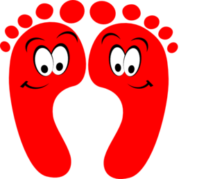 Feet clipart red. Happy clip art at