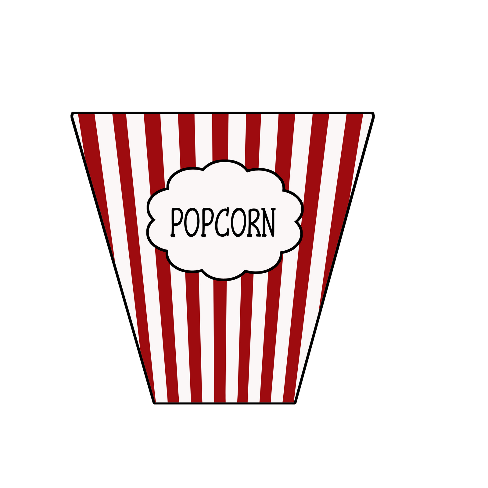 Feet clipart red. Popcorn box hands cartoon