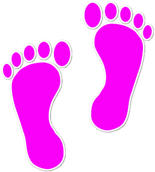 Feet clipart red. Free walking footprint cliparts