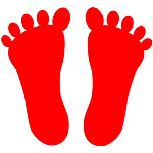 feet clipart red